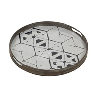 Notre Monde Tribal Hexagon Glass Tray