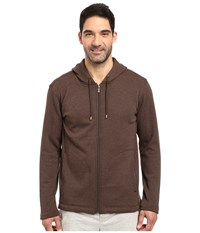 Ugg Bownes Hoodie Stout Heather Men's Clothing Brown