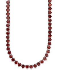 Macy's Sterling Silver Necklace Garnet Continuous Necklace 47 Ct. T.W.