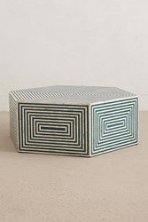Anthropologie Hexa Inlay Coffee Table Turquoise