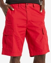 Levi's Men's Carrier Loose Fit Cargo Shorts Scooter Red