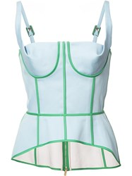 Thom Browne Fitted Bustier Top Blue