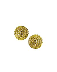 Emily And Ashley Pave Crystal Stud Earrings Green