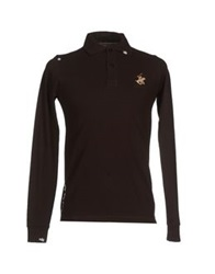 Beverly Hills Polo Club Polo Shirts Dark Brown
