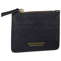 Scotch And Soda Leather Card Holder Black