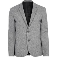 River Island Light Blue Space Dye Skinny Fit Blazer