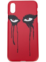 Haculla Moody Eyes Iphone X Case Red