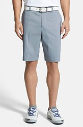 Men's Big And Tall Cutter And Buck 'Charter' Flat Front Drytec Shorts Liberty Blue