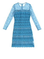Burberry Long Sleeved Tiered Lace Dress
