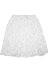 Simone Rocha Vinyl And Embroidered Tulle Skirt White