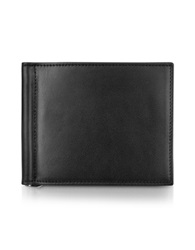 Giorgio Fedon Classica Collection Black Calfskin Money Clip Wallet