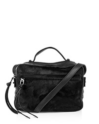 Kooba Blythe Calf Hair Top Handle Satchel Black