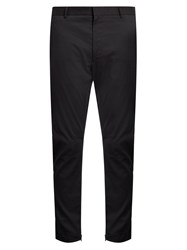 Lanvin Zip Cuff Stretch Twill Biker Trousers