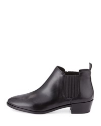 Shaw Leather Flat Bootie Black Michael Michael Kors