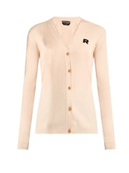 Rochas Wool And Cashmere Blend Caridgan Beige