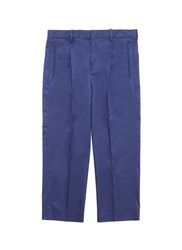 Tomorrowland Cropped Poplin Pants Blue