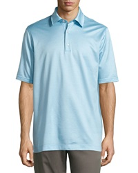 Bobby Jones Hagen Jacquard Polo Shirt Surf Blue