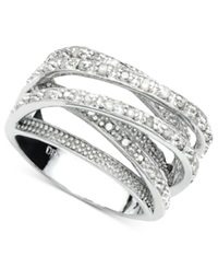 Victoria Townsend Diamond Multi Row Ring In Sterling Silver 1 2 Ct. T.W.