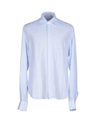 Ermanno Scervino Shirts Shirts Men Sky Blue