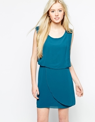 Wal G Overlay Shift Dress Teal