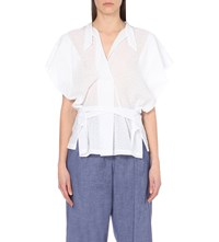 Anglomania Bee Cotton Blouse Optic White