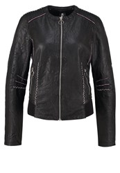 Freaky Nation Grace Leather Jacket Black