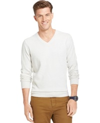 Izod Cane Bay Marled V Neck Sweater Stone