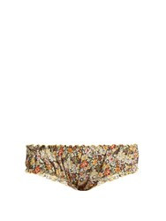 Loup Charmant Bloomer Floral Print Cotton Briefs Multi