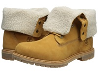 Timberland Authentics Teddy Fleece Fold Down Wheat Women's Lace Up Boots Tan