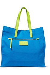 Marc By Marc Jacobs Neon Cotton Canvas Tote Blue