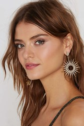 Nasty Gal Sun Body To Love Pave Earrings