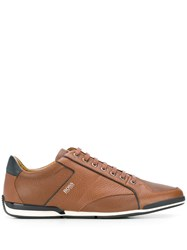 Hugo Boss Classic Low Top Trainers Brown