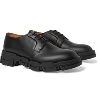 Lanvin Leather Derby Shoes Black