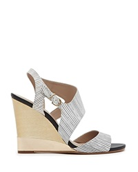 Reiss Wedge Sandals Colbert Stripe