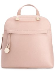 Furla Top Handle Backpack Pink Purple