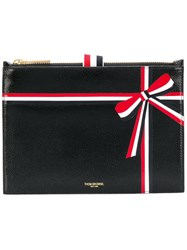 Thom Browne Large Coin Purse With Ribbon Detail Black