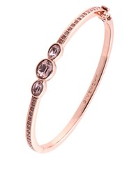 Givenchy Rose Gold And Swarovski Crystal Vintage Rose Bangle Bracelet
