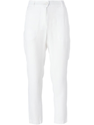 Isola Marras Cropped Trousers White