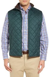 Peter Millar Men's 'Hudson' Lightweight Quilted Vest Pomegranate