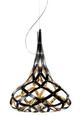Slamp Super Morgana Pendant Black Gold