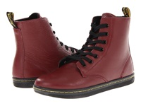 Dr. Martens Leyton 7 Eye Boot Cherry Red Women's Lace Up Boots