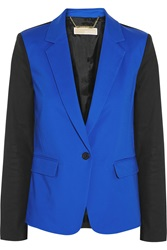 Michael Michael Kors Color Block Stretch Cotton Poplin Blazer