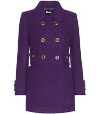 Miu Miu Wool Coat Purple