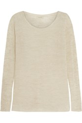 American Vintage Goodwin Open Knit Sweater White