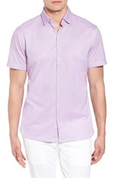 Stone Rose Contemporary Fit Geo Tech Sport Shirt Pink