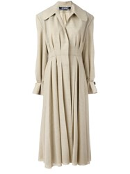 Jacquemus Pleated Long Coat Nude Neutrals