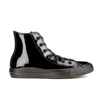 Converse Women's Chuck Taylor All Star Patent Leather Hi Top Trainers Black