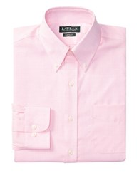 Lauren Ralph Lauren Classic Fit Plaid Poplin Dress Shirt Rose White