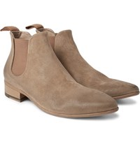 Marsell Washed Suede Chelsea Boots Mushroom