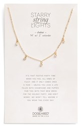 Dogeared Starry String Lights Choker Necklace Gold